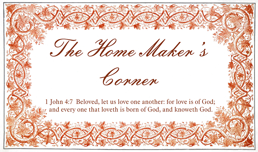 The Home Maker's Corner